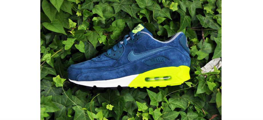 separation shoes 228f9 ce879 Nike Air Max 90 PRM Navy/Volt | Green Label