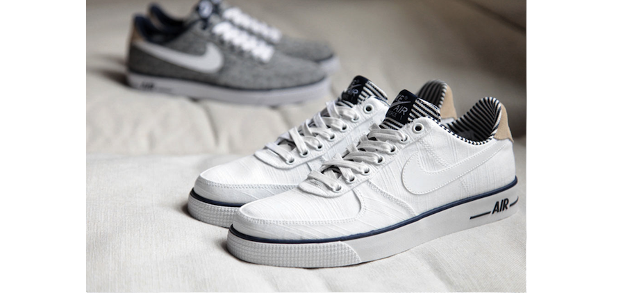 """Nike Air Force 1 AC PRM QS Spring 2014 """"Navy"""" Pack   Green Label"""