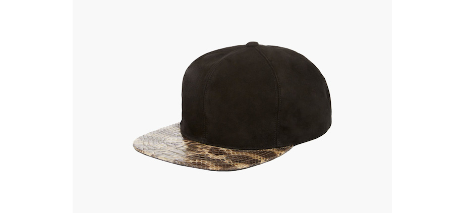 Just Don Fall Winter 2014 Leather and Python Snapback Collection ... 41b3cc4ae63