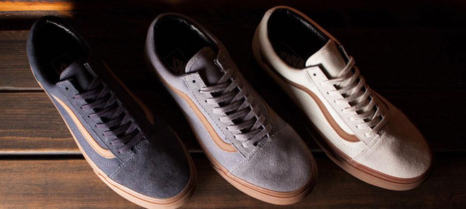 Vans Old Skool (Gum Sidestripe) Ebony | Vans old skool